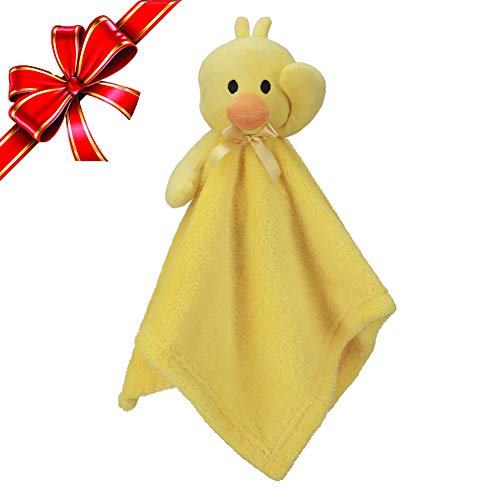 Pro Goleem Duck Security Blanket Soft Yellow Baby Lovey Unisex Lovie Christmas Gift for Newborn Toddler 15 Inch