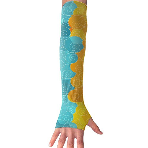 HBSUN FL Unisex Abstract Color Clouds Anti-UV Cuff Sunscreen Glove Outdoor Sport Riding Bicycles Half Refers Arm Sleeves by HBSUN FL