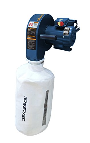 Learn More About POWERTEC DC5370 Wall Dust Collector with 2.5 Micron Filter Bag