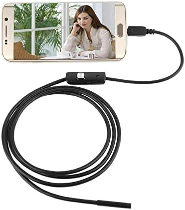 7 Black XP//Vista 5.5mm Endoscope Waterproof Borescope Inspection Camera USB 6 LED for Android//Windows 2000 Ship from US