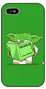 iPhone 5 / 5s Yoda reading grammar book - black plastic case / Nature, Animals, Places Series, starwars by ruishername