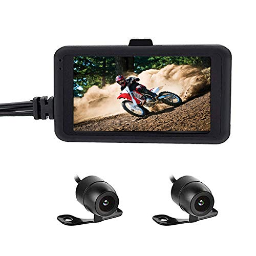 OBEST Biker's Camera Motorcycle Dash Cam 1080p Dual Lens Video Recorder Motorcycle Dash Cam Sports Action Camera 3