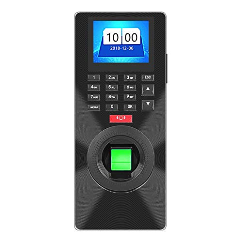 fosa 2.4inches Fingerprint Password Attendance Machine Access Control System Employee Checking-in Payroll Recorder Support TCP/IP+U Disk Recognition Access Controller with HD TFT LDC Display