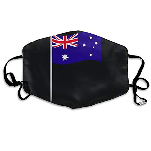 SDQQ6 Flag of Australia Mouth Mask Unisex Printed Fashion Face Mask Anti-dust Masks