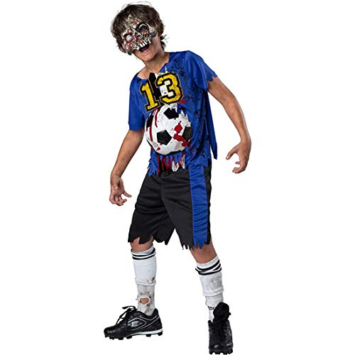 Soccer Player Costume Halloween (Boys Zombie Goals Soccer Sports Costume size XL)