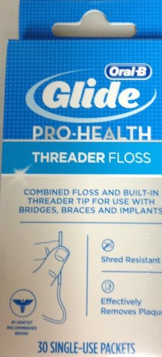 PACK OF 3 EACH CREST GLIDE THREADER FLOSS 30EA (Glide Threader)