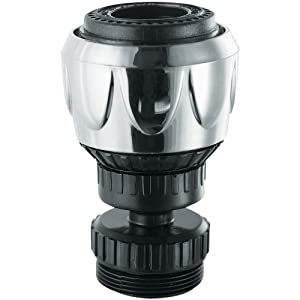 PlumbCraft Swivel Faucet Aerator - 2 Spray Settings, Chrome