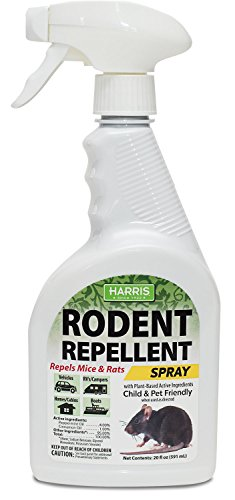 Harris Mice Repellent Spray, Organic Humane Mouse Trap Substitute, 20oz Peppermint and Cinnamon Oil Based Formula for Rodents by Harris