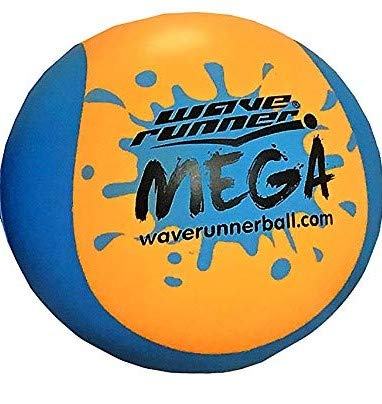 Wave Runner Mega Ball #1 Water Ball for Skipping and Bouncing The Perfect Pool Ball and Ocean Ball (Orange)