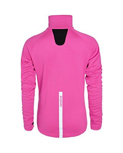 Newline Visio Warm Sweater - Camiseta manga larga para mujer, color rosa neón, talla L