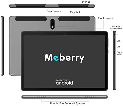 Android 9.0 Pie Tablet : MEBERRY 10″ Ultra-Fast 4GB/RAM,64GB/ROM Tablets-8000mAh Battery-WiFi Support – Bluetooth Keyboard | Mouse | M7 Tablet Cover and More Include – Grey 416XH7TKFdL