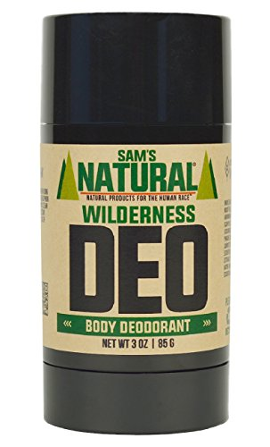 Sam's Natural Deodorant Stick - Wilderness, Aluminum Free, Vegan, Cruelty Free, 3 oz