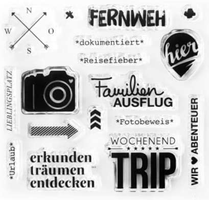 Deutscher transparenter klarer Silikonstempel//Siegel f/ür DIY Scrapbooking//Fotoalbum Dekorative klare Stempelbl/ätter A1790