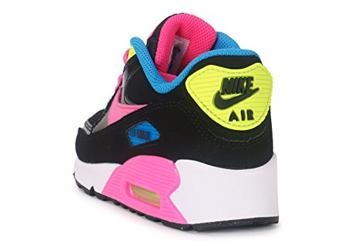 74eaa6205 ... Nike Air Max 90 Mesh (PS) - Zapatillas de Deporte Niñas Negro   Rosa