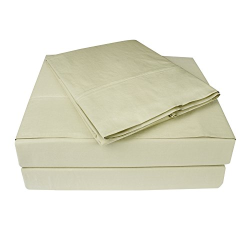 Percale Sheets, 100% Cotton ,Deep Pocket, Luxury Bedding, 4
