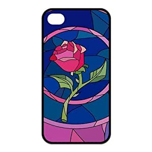 Mystic Zone Beauty and The Beast iPhone 4 Cases for iPhone 4/4S Cover Classic Cartoon Fits Case KEK1324 Kimberly Kurzendoerfer