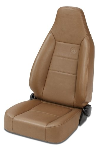 Sport Reclining Front Seat - Bestop 39434-37 TrailMax II Sport Spice Front High Back All-Vinyl Single Jeep Seat for 1976-2006 Jeep CJ and Wrangler