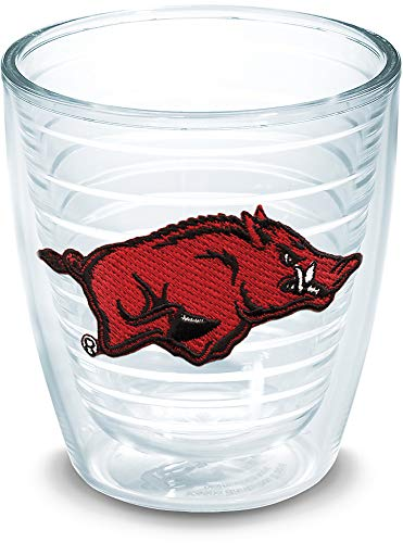 Tervis 1006504 Arkansas Razorbacks Tumbler with Emblem 12oz, Clear Arkansas 12 Ounce Tumbler