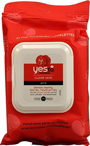 Yes to Tomatoes Blemish Clearing Facial Towelettes, Clear Skin Acne 25 ea (Pack of 12) Review