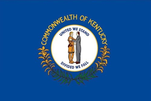 Valley Forge, Kentucky State Flag, Nylon, 3'x5', 100% Made in USA, Canvas Header, Heavy-Duty Brass Grommets