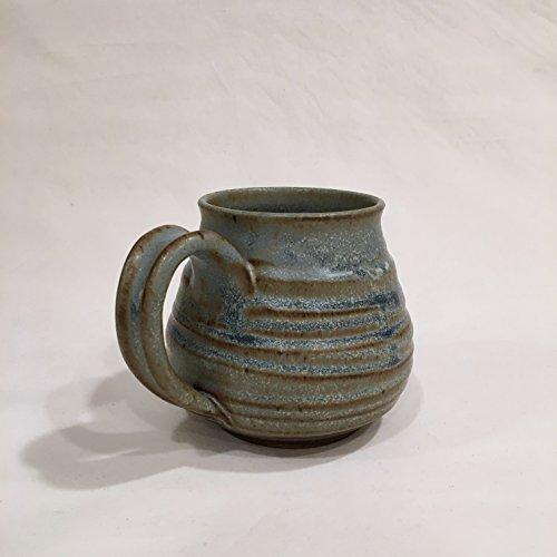 Rustic Blue Coffee Mug, Handmade Ceramic Coffee Mug, Pottery Mug CMAY17RB7 16 OZ