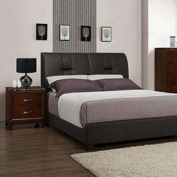 Homelegance 2112KPU-1EK Upholstered Eastern King Bed, Dark Brown