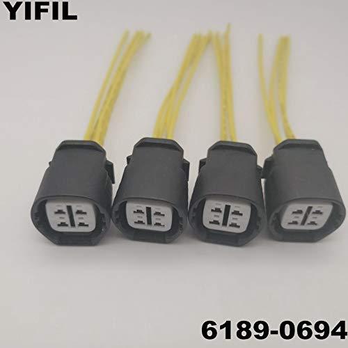 (Davitu 2/4/10pcs/lot 4 Pin/Way Female Alternator Regulator Repair Connector Sensor Plug With Pigtail For Honda Acura TOYOTA 6189-0694 - (Color Name: 4pcs))