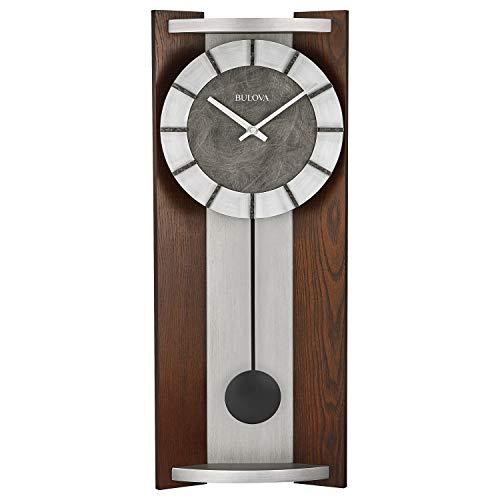 Bulova Newton Pendulum Wall Clock, Espresso