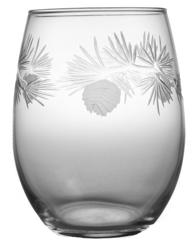 Nautical Tropical Imports ICY Pine Stemless Wine Glasses 17 oz Set of 4