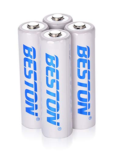 AA Batteries, BESTON 2000mAh Rechargeable NiMH Double A Batteries with High Capacity for Clocks, Remotes, Games Controllers, Toys & Electronic Devices(4 Pack)