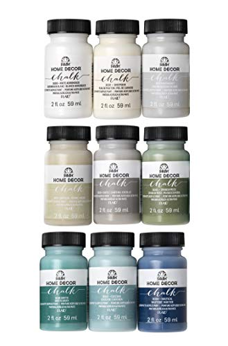 FolkArt Home Décor Chalk Finish Paint Set (2 Ounce), PROMOFAHDC, Top Colors