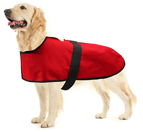 All Seasons Sherpa Coat Vest for Dogs with Velcro Strap for Large Dogs (Large - Red) by All Seasons Products, Inc. (Image #9)