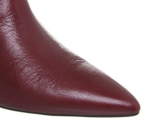 Heel Chelsea Red Boots Arty Leather Office Cone 4qA81EE