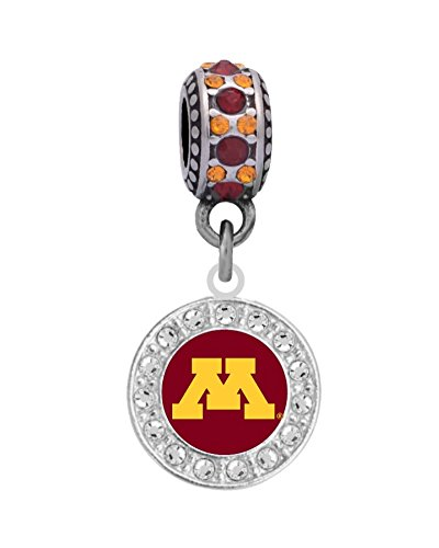 Final Touch Gifts University of Minnesota Charm Fits European Style Large Hole Bead Bracelets ()