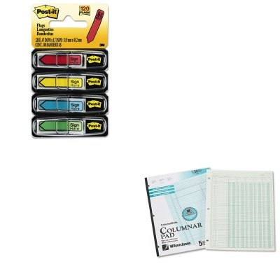 KITMMM684SHWLJG7205A - Value Kit - Wilson Jones Accounting Pad (WLJG7205A) and Post-it Arrow Message 1/2amp;quot; Flags (MMM684SH)