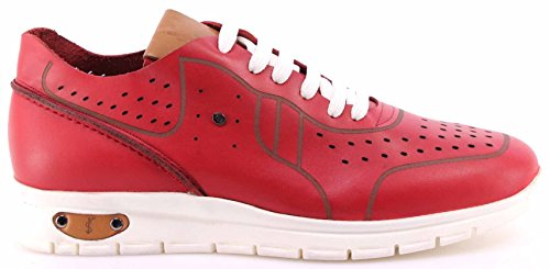 Roberto Serpentini Scarpe Uomo Sneakers Pelle Rossa Leather Red Comfort Nuove