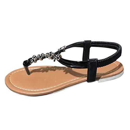 - Women's Comfy Platform Sandal, MmNote Thong Flat Casual Summer Lightweight Outdoor Beach Open Toe Sandal Black