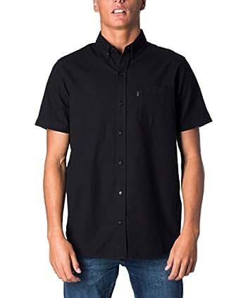 Rip Curl Men's All Night S/S Shirt, Black, Small