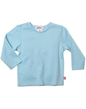 Unisex baby Long Sleeve Solid T Shirt