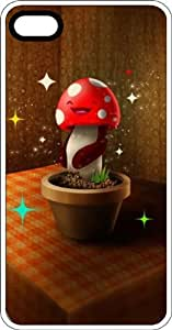 Happy Mushroom In Flower Pot Clear pc Case for Apple iPhone 5 or iPhone 5s