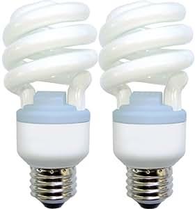 GE Lighting 75412 Reveal Spiral CFL 20-Watt (75-watt replacement) 1200-Lumen T3 Spiral Light Bulb with Medium Base, 2-Pack