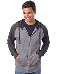 Global Men's Lightweight T-Shirt Jersey Full Zip Up Hoodie Sweatshirt