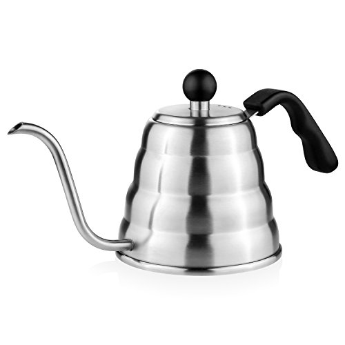 Aicok Pour Over Coffee Kettle Electric Gooseneck Drip Kettle Stovetop Tea Pot 1.2 L (Stove Top Hot Water Pot)