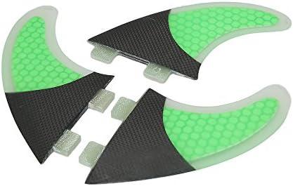 Lixada Tabla De Surf Aletas Conjunto De Panal 3 Mitad De Fibra De Carbono Surf Board Aletas G3 / G5 / G7 Surf