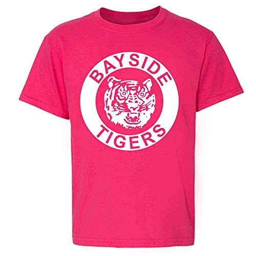 Bayside Tigers 90s Retro Halloween Costume Pink 3T Toddler Kids Girl Boy T-Shirt