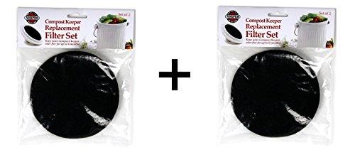 Norpro 4 Piece Composter Filter Refills