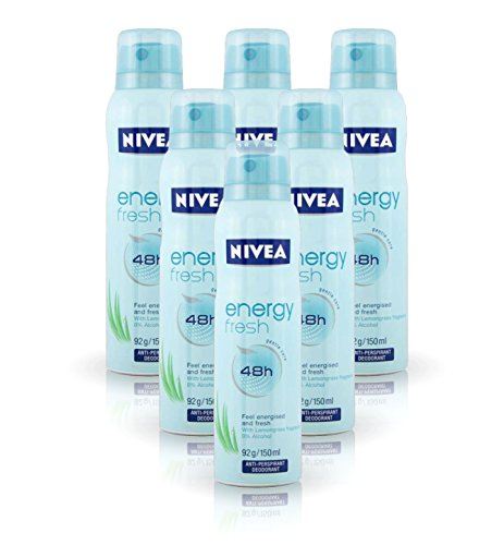 - 6X Nivea Energy Fresh Deodorant Ladies 48H Anti-Perspirant Spray 150ml by Nivea