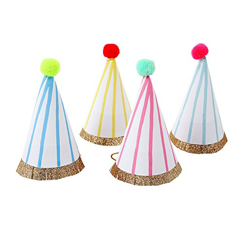 Meri Meri, Party Hats, Mini Birthday and Celebration - Pack of 8 -