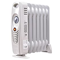 700W Portable Mini Electric Oil Filled Radiator Heater Safe Room ComforTemp