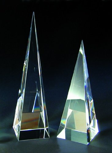 Pyramid Tower Crystal Award - Large